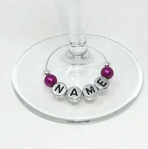 Personalised Name Wine Glass Charms Birthdays Weddings Hen Parties Xmas