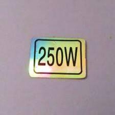 Holographique Official 250 W Puissance moteur Note autocollant plaque vélo électrique Support