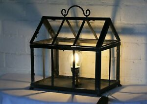 Table Lamp Retro & Unique Metal Indoor Greenhouse Country Cottage 1950s Upcycled