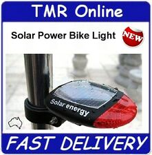 Solar Powered Bike Bicycle Tail Light Safety Pushbike Rear Lamp Flashing Red NEW