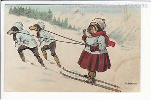 KÜNSTLERKARTE , DACKEL , TECKEL , DACHSHUND , SIG. HOFFMANN ca 1915