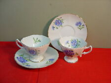 Rossetti China Hand Painted MEADOW BELLE Two Cup and Saucer Sets