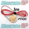 SONDA DI TEMPERATURA DA 1m SENSORE PT100 platino termoresistenza rtd probe 316L