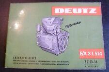 Deutz Motoren F/A 3L 514 Ersatzteilkatalog