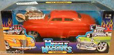 Muscle Machines 1949 Mercury Car Real Braided Steel Line Die Cast 1:18 Scale NEW