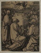 1510-Durer albrecht-ASCENSIONE-RARO REITIRAGE-XILOGRAFIA CON PASSEPARTOUTE