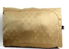 AUTHENTIC LA TOUR EIFFEL 1887 GOLD SILKY FOLDABLE TRAVEL HOME STORAGE CASE BAG