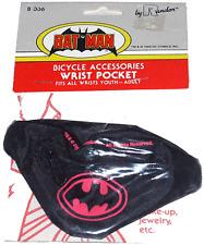 Batman Bicycle Wrist Pocket / Batman Wrist Pocket Black & Purple