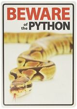 Beware of the Python A5 Plastic Sign