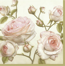 20 Paper Napkins BEAUTY ROSES Decoration DECOUPAGE SHABBY CHIC - Lunch
