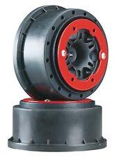 Split Six Red Bead-Loc On Black Wheels Traxxas 2WD Slash ProLine Racing2715-04