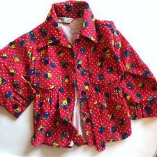 VINTAGE healthtex Red Floral Girls Jacket Size 4T