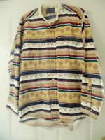 38535017f2 Wrangler Western Shirt Aztec Print X Long Tails Single Needle Tailoring  16x35