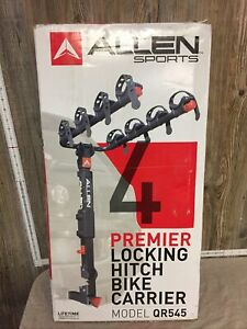 "Allen Sports 4 Bike Premier Locking Hitch Bike Carrier Model QR545 2"" Receiver"