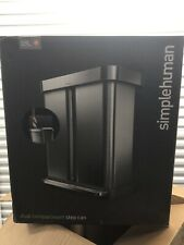 simplehuman Dual Compartment Rectangular 58-L Step Recycle Trash Brushed Steel