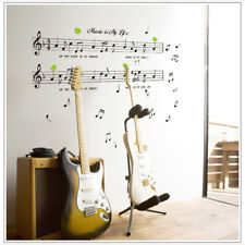 Music Is My Life Theme Bedroom Dancing Music Note Wall Door Stickers Home Decor