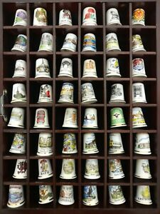 144 Thimbles with Display Cases Large Collection Global Souvenirs #H1