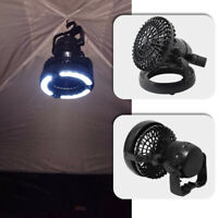 Tent Fan Light LED Camping Hiking Gear Equipment Outdoor Portable Lamp