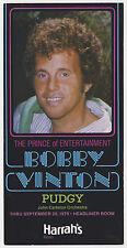 Bobby Vinton 1979 Concert Postcard / Handbill - Harrah's in Reno