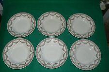SARREGUEMINES lot de 6 assiettes à soupes décor EMPIRE