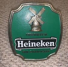 Vintage Imported Heineken On Draught Advertising Beer Sign w/ Stand