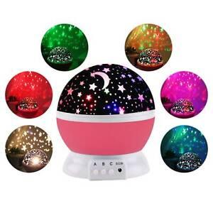 360° LED USB Star Light Sleep Romantic Starry Night Sky Projector Cosmos Lamp