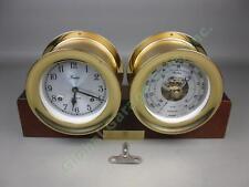 Chelsea Boston Shipstrike Brass Nautical Maritime Ship's Bell Clock + Barometer