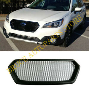 For Subaru Legacy Outback 2015-2017 Front Bumper Hood Sport Mesh j Grille Grill
