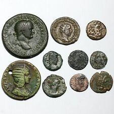 More details for 27bc-476ad various roman greek bronze coins