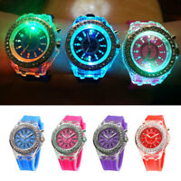 Unisex Watch Light Up LED Glow Crystal Bling Children Watches For Holiday Decor