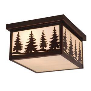 "Vaxcel Yosemite 12"" Outdoor Ceiling Light BBZ (Trees) - OF33412BBZ"