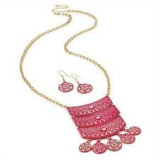 Enamel Mixed Metals Statement Costume Necklaces & Pendants