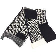 Lauren Ralph Lauren Women's Scarf Cable Knit NEW Nylon Wool Mohair Black White