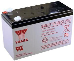 YUASA NPW45-12 Sealed Lead Acid Rechargeable Battery 12V 8.5Ah 45W Genuine Alarm