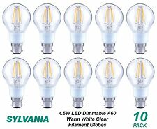 10 x 4W DIMMABLE LED Vintage Clear Filament Light Globes / Bulbs B22 A60 GLS