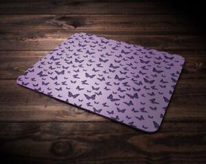 Cute Mouse Pad  - Purple  Butterflies