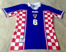 CROATIE/HRVATSKA coupe du monde 1998 SLAVEN BILIC Jersey XL (Comme neuf Cond)