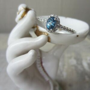 Signed STS 925 Sterling Silver Blue Alexandrite ? Gemstone RING SZ 9