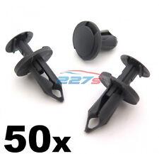 50 8mm LARGO GRIS OSCURO Embellecedor -clips Perfecto Para VW T4 & T5