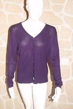 Cardigan violet taille unique marque Soie pur Soi en soie étiqueté 52,95€ (ch)