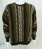 Vintage Protege Men's Crewneck Cosby Style Sweater Multicolor XL