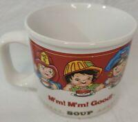 Vintage 1993 Campbell's Soup Mm Mm Good Soup 14oz Cup Bowl Coffee Mug, excellent