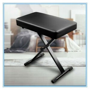 Adjustable Keyboard Stand & Stool X-frame Musical Instrument Seat Bench PU Chair