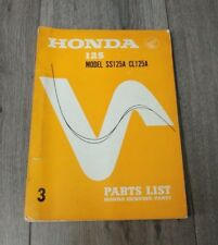USED HONDA SS125A CL125A PARTS LIST