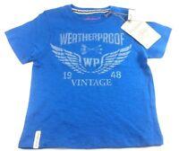 Weatherproof Little Boy's Crew Neck Graphic T-Shirt Blue Vintage classic Tee 5