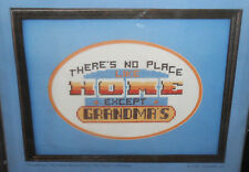 New Vtg Concepts THERE'S NO PLACE LIKE HOME Cross Stitch Kit w/Frame & Mat