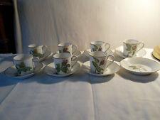 Tasses à café porcelaine de Paris décor de roses porcelain coffee cups of paris