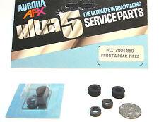 4pc 1977 Aurora AFX SpeedSteer Ultra5 TIRES Service Part #3804 Fit AFX 8720 Too