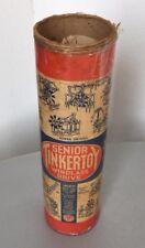 Vintage# Senior Tinkertoy Tinker Toy Wooden Rod & Spool Wood #TUBE
