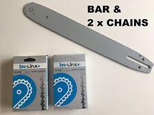 "12"" CHAINSAW BAR & 2 x BYLINK CHAIN FOR HUSQVARNA / ECHO 3/8LP 043"